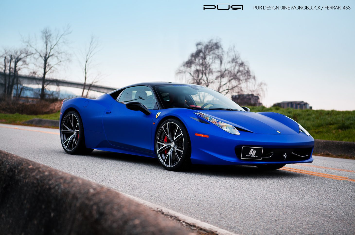 matte blue ferrari 458 italia - Ferrari 458 Blue And White